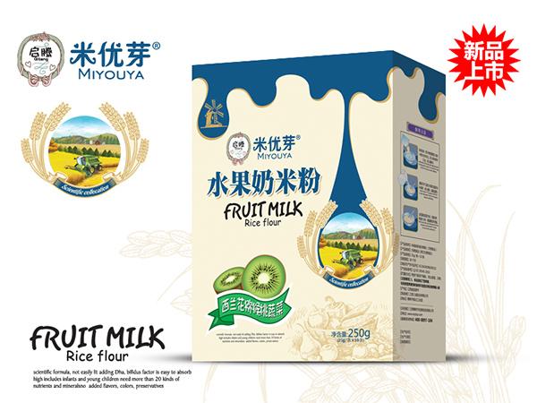 西兰花猕猴桃蔬菜—水果奶米粉