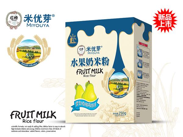 雪梨核桃钙铁锌—水果奶米粉