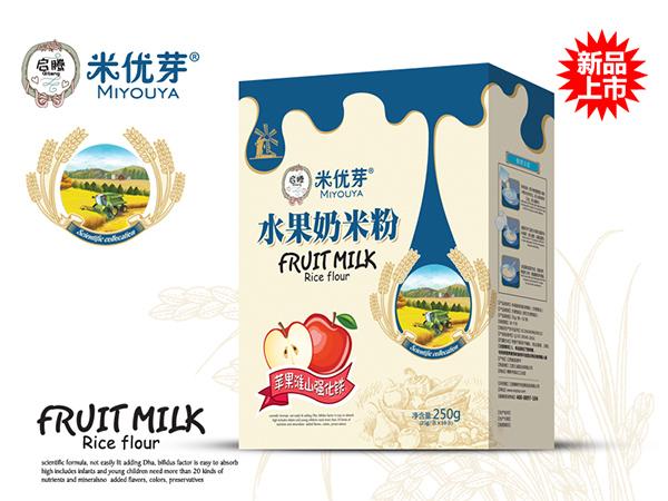 苹果淮山强化铁—水果奶米粉