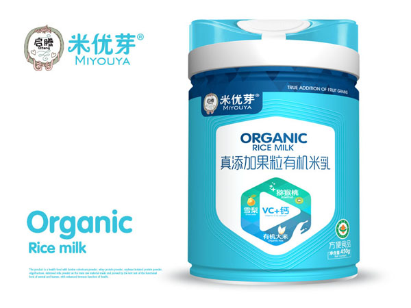 真添加果粒有机米乳-VC+钙